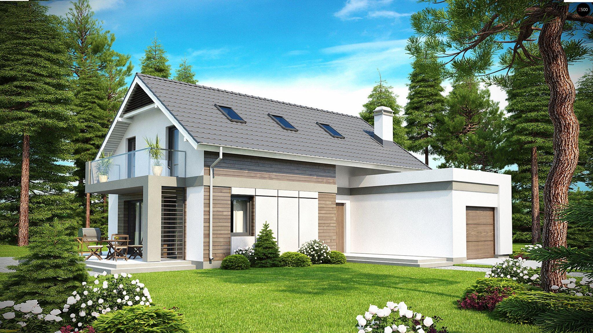 Проекты одноэтажных домов с балконом..