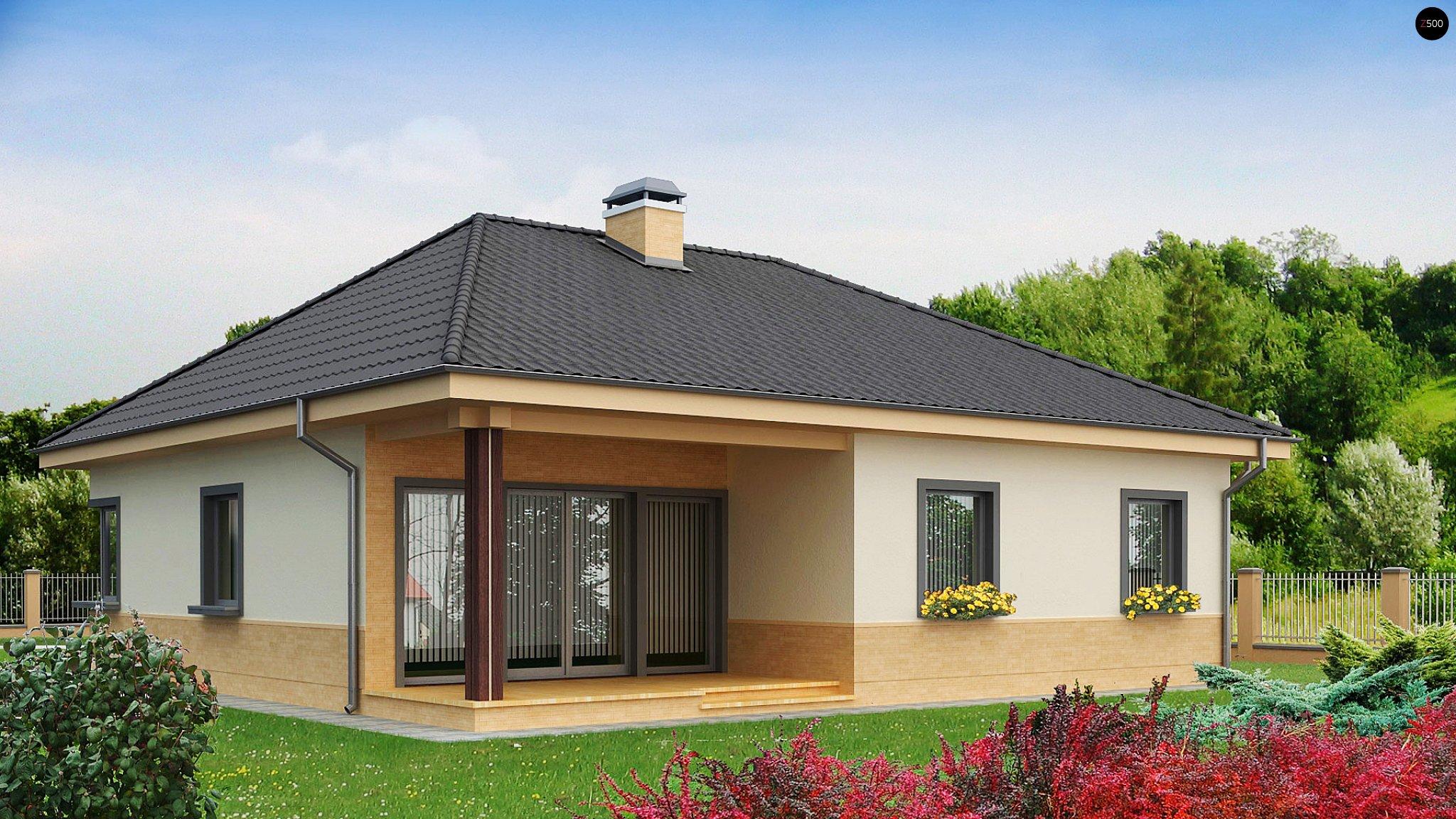Z24 - проект дома из сип панели высотой 6,6 м, площадью 134,.