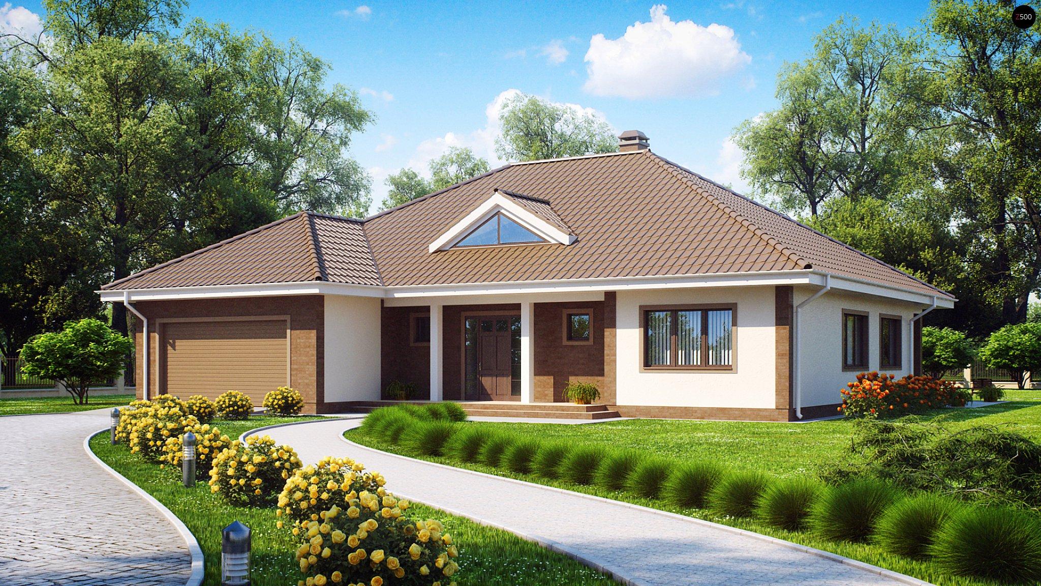 Крыши домов с гаражом фото