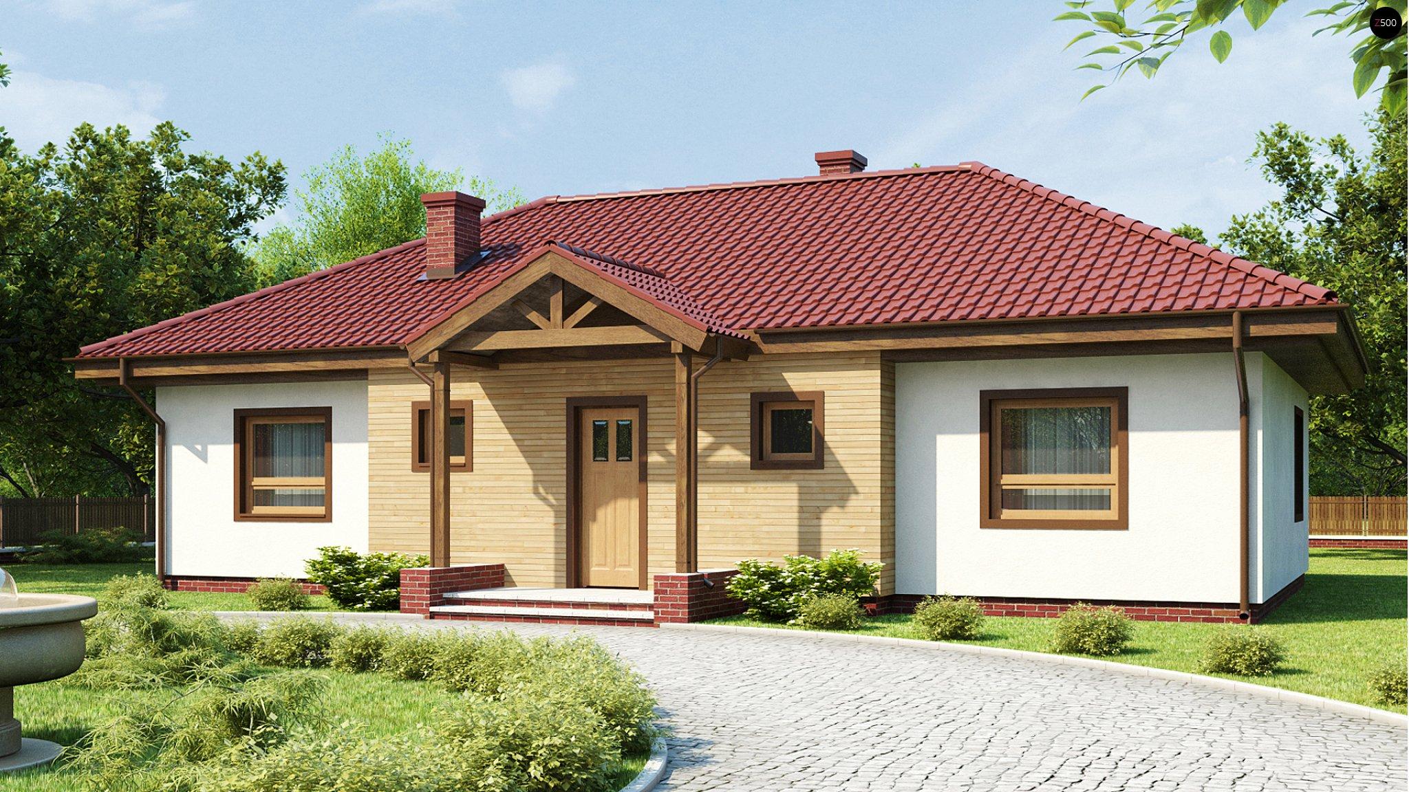 Крыши одноэтажных частных домов фото