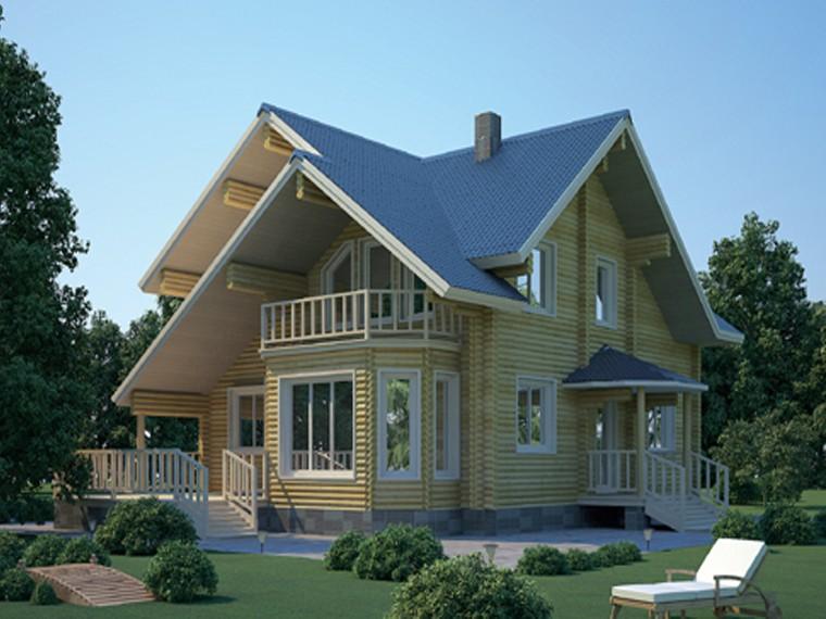 Проект дома из бревна- marisrubru