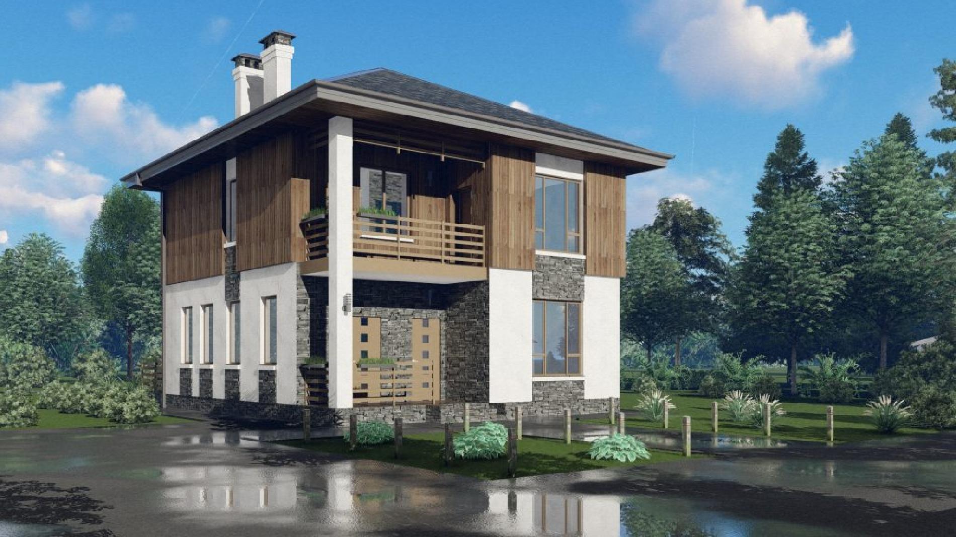 проект дома 9 на 11 двухэтажный