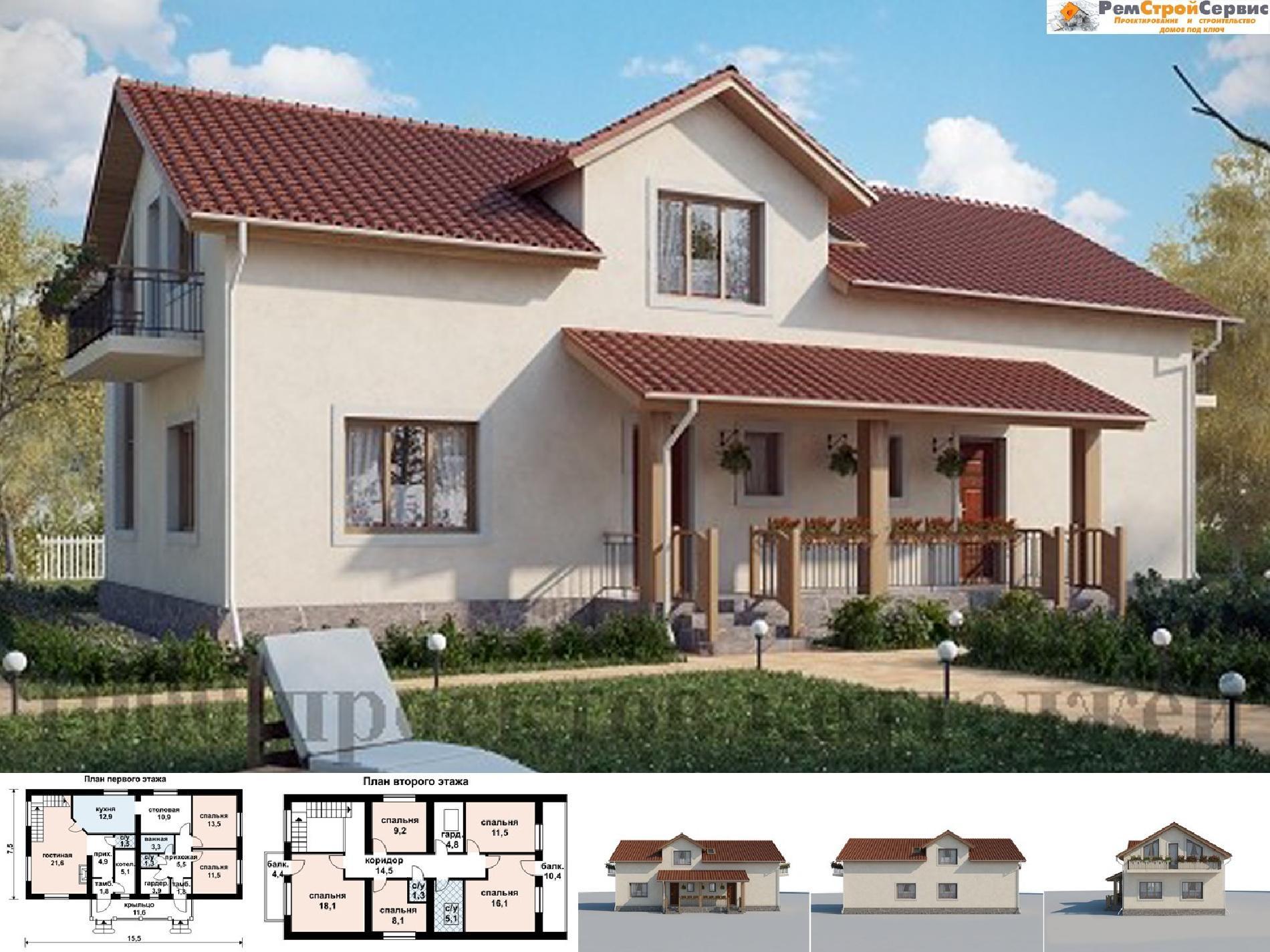 проекты узких домов для узких участков