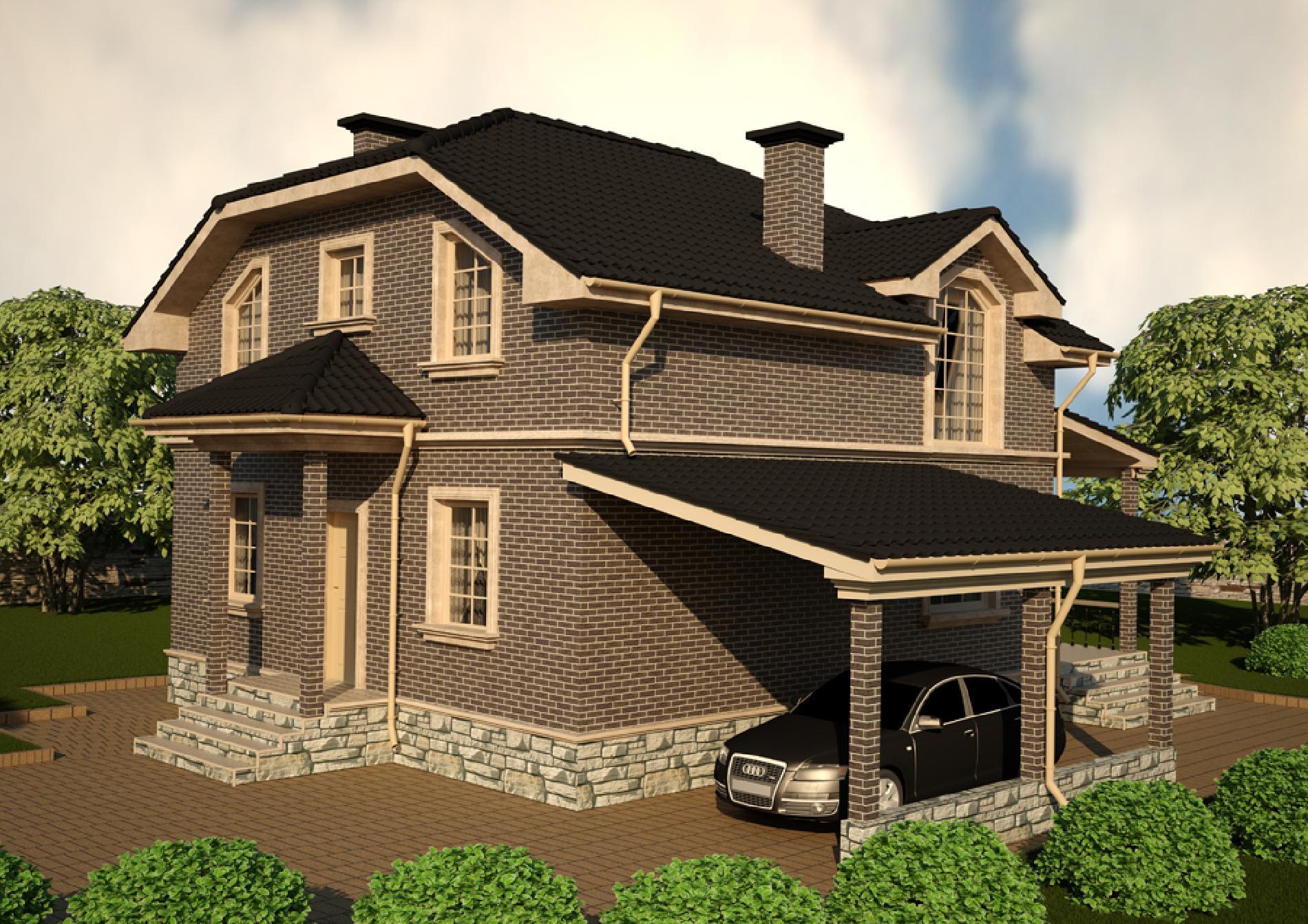Проект дома 8 на 10 двухэтажный