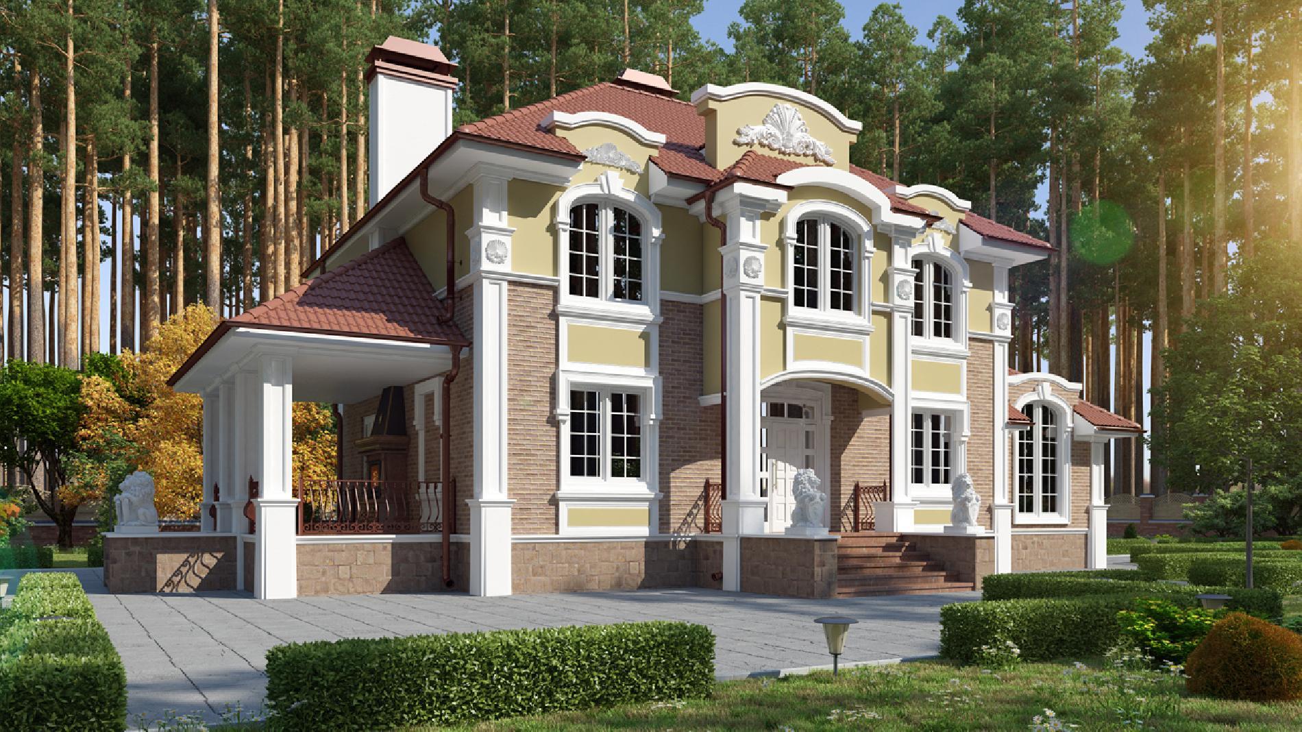 каменный дом под ключ проекты