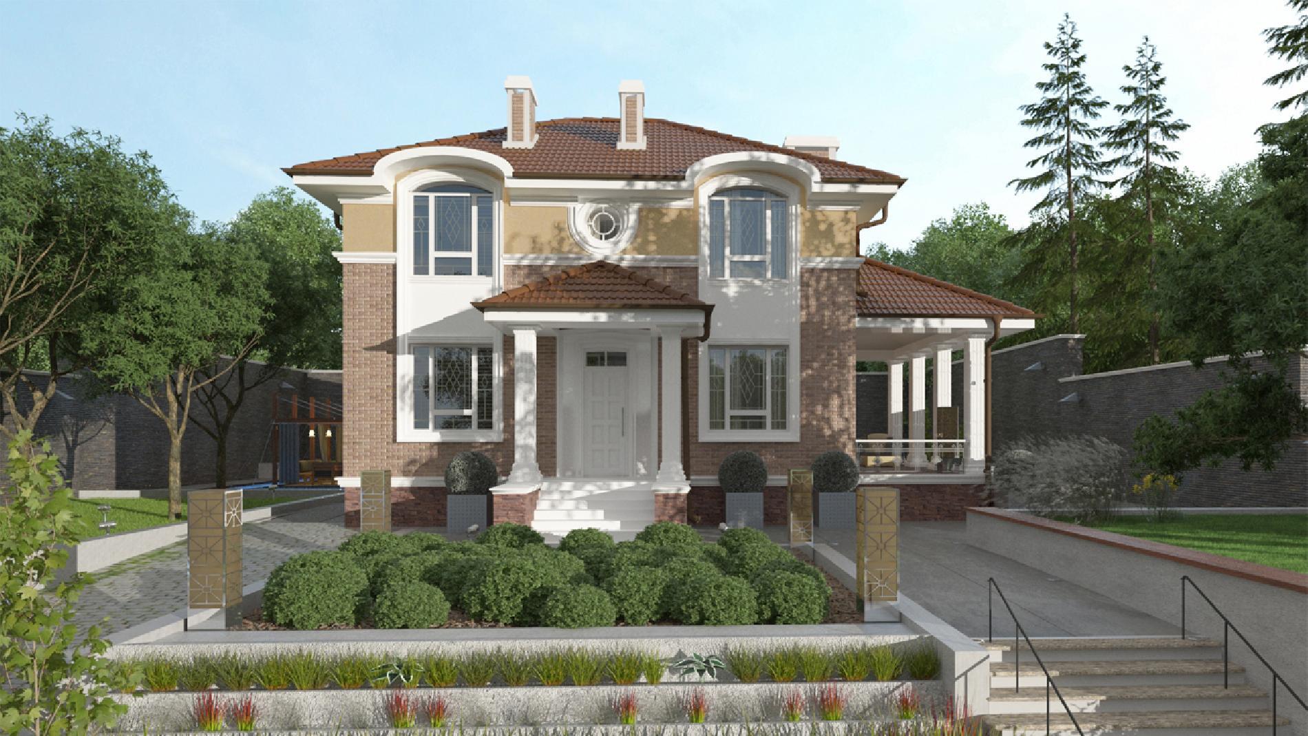 проект дома голицын с цокольным этажом