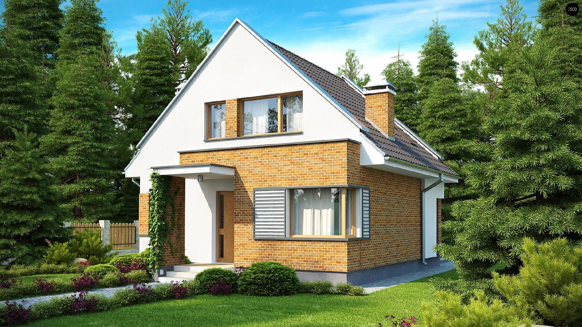 Проект z112: с мансардой кирпич/блоки, площадь - 111 м2 гото.