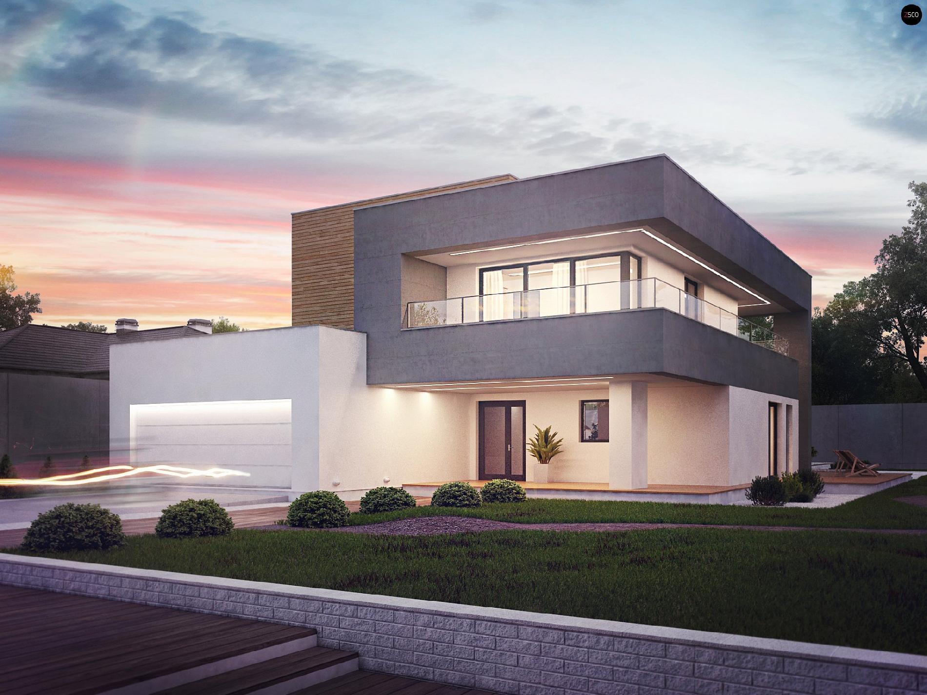 проекты домов с плоской крышей