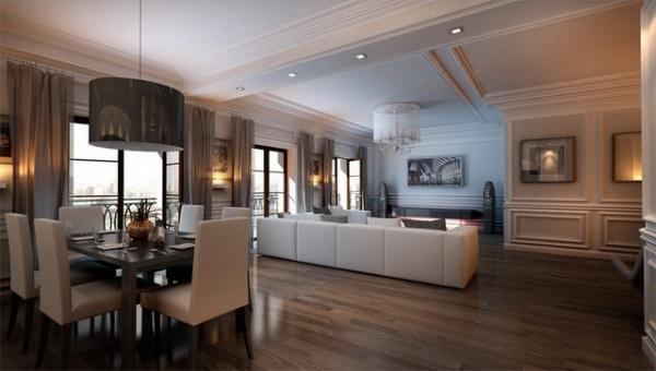 Дизайны гостиной столовой
